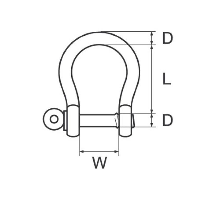 Grillete Campana galvanizado D14