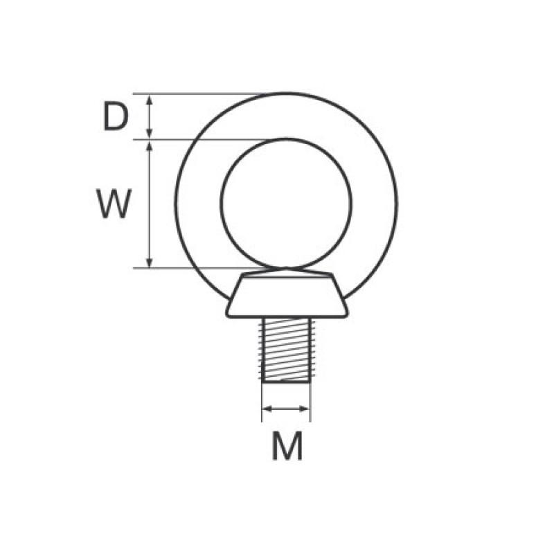 Tornillo de cabeza M M8 Inox