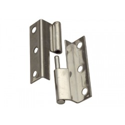 stainless steel offset square hinge  L H55 x L19+16 mm