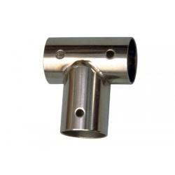 Union Tee Chapa Inox Recta 90° Barandillas Náuticas Tubo 22 mm
