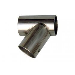 Union Tee Chapa Inox Inclinada 60° IZDA Tubo 22mm