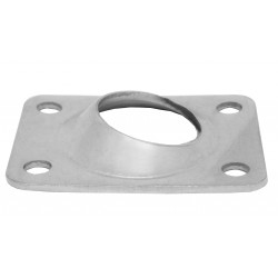 Base Rectangular Inox Inclinada 60º para Soldar Barandillas Tubo 22 mm