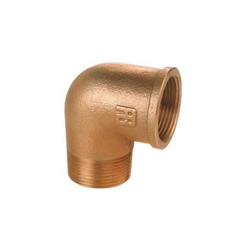 Codo de bronce M/H de 2 pulgadas