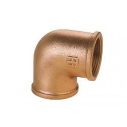 "Codo de bronce Hembra-Hembra 3/8"""