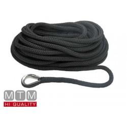 Línea de Amarre Negro 10mm X 6m guardacabos