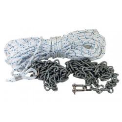 Kit de fondeo 8x30mt + cadena de 2 m 6mm