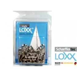 Blister 10 bases Loxx/tenax 2 agujeros + tornillos