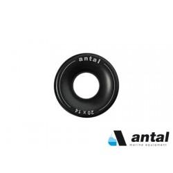 Anillos de aluminio anodizado negro Antal 18 x 5 mm