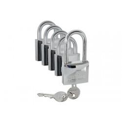 kit 5 Candados Hardinox 30mm con la misma llave