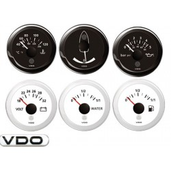 Reloj negro Vdo Nivel Combustible 240/30oh 52mm