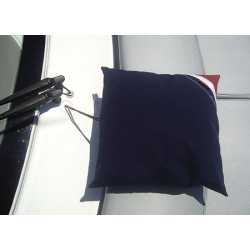 Cojin de Cubierta Azul Comfortable acrylic fabric cushion 50 x 50cm Blue