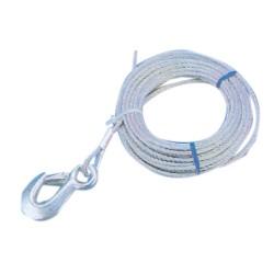 Cable Cabrestante 5 mm 10mt con gancho