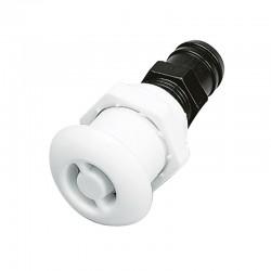 Racor Náutico Ventilación Blanco recto con cabeza redonda 16mm