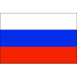 Bandera de Rusia 30 x 45 Cm.