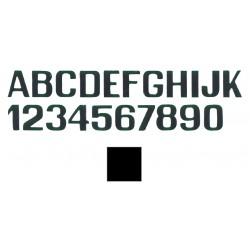 Letras y números adhesivos 150mm – Negro / Letra: J