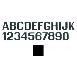 Letra K NEGRA Adhesiva 250mm
