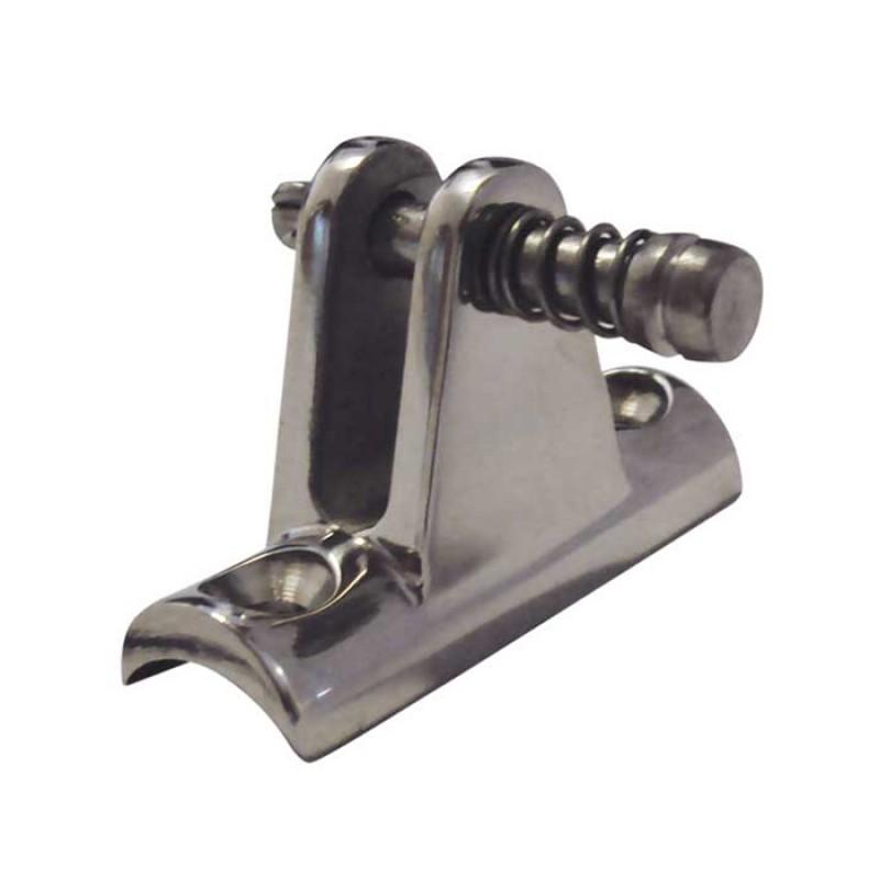 Base inox concava para toldos con pin