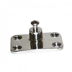 Base de toldos inox para montaje lateral mm. 72x47