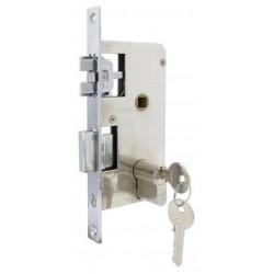 Cerradura marina anti vibracion click lock con cilindro 132x70mm